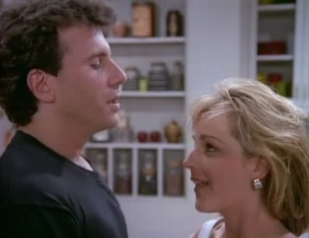 Paul (Paul Reiser) and Jamie (Helen Hunt) finish ... uhh ... making lasagna.