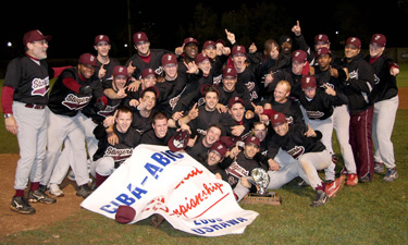 Concordia University baseball champions (photo by Al Fournier)
