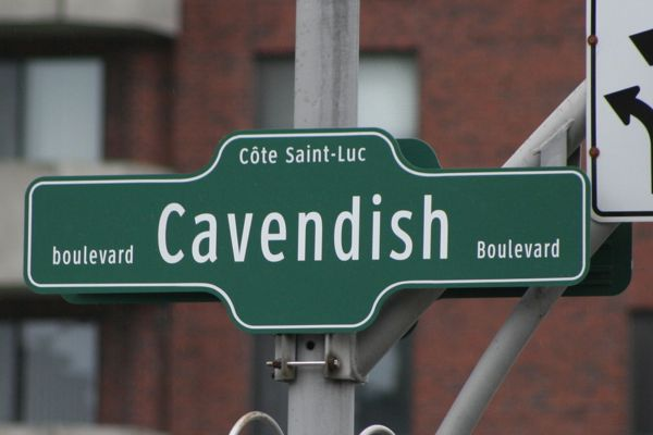 New Cavendish street sign
