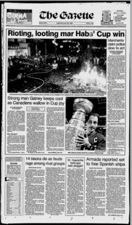 Gazette Stanley Cup 1986