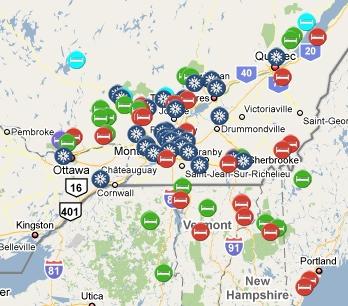 Getaways map