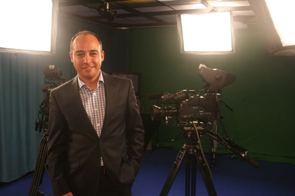 Sam Norouzi, whose family would own 90% of the company behind ICI, in the Mi-Cam studio on Christophe-Colomb Ave.