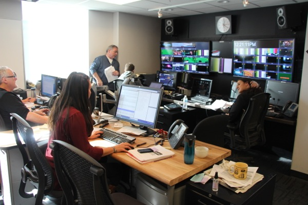 The Mosard control room setup at Global Montreal
