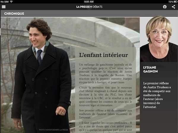 Columns come with prominent images of columnist headshots