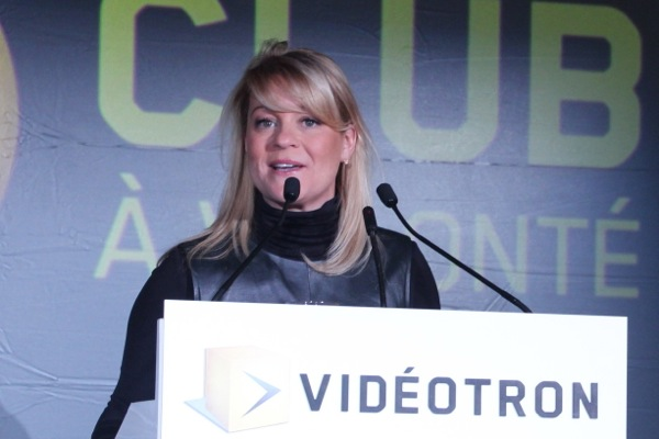 Videotron's vice-president of content operations and public affairs, Isabelle Dessureault, who is also in charge of MAtv and the MYtv community channel project.
