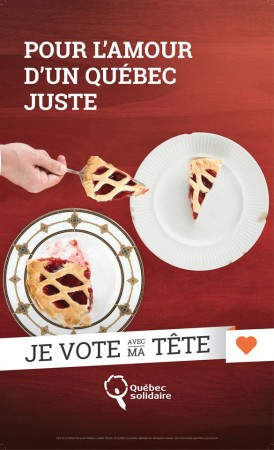 Québec solidaire campaign poster